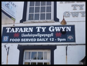 "Il pub, ""tafern"" in gallese"