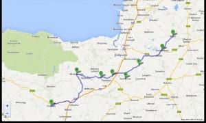 Polzeath-Launceston   37 miglia. 24-7-2013