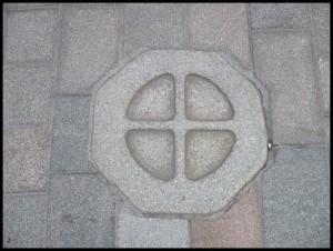 Un'altra pietra segna il centro del mercato medievale di Perth (quella scozzese)