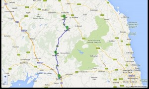 Carlisle-Selkirk. 54.5 miglia  8-8-2013